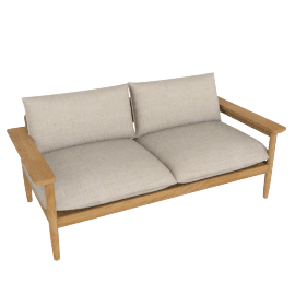 Terassi Two-Seater Sofa, Papyrus