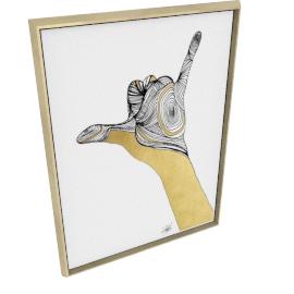 Sign Language V by KelliEllis - 36''x48'', Gold