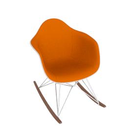 Eames® Upholstered Molded Fiberglass Rocker (RFAR)