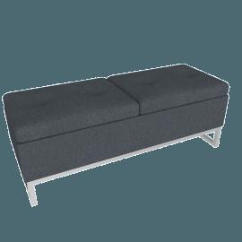 Viera Ottoman Storage Bench, Grey
