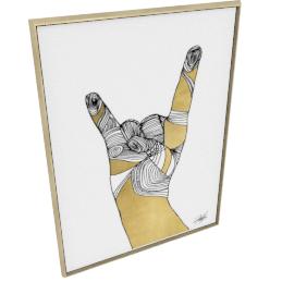 Sign Language IV by KelliEllis - 54''x72'', Gold