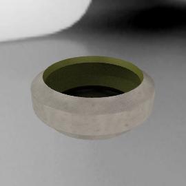 Arik Levy Vase Wide - White.Green