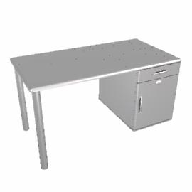 Mini Malibu Desk, Silver