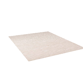 Broken Stripe Rug - 8x10 - Cream