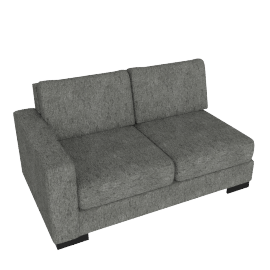 Signature 2 Seater With Left Arm, Silver Gray