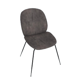 Beetle Side Chair, Warm Grey