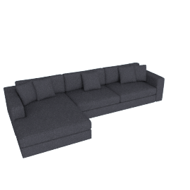 Reid Sectional Chaise Left, Pebble Weave Pumice