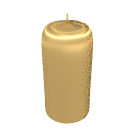 Pillar Candle, Metallic Gold, 15cm