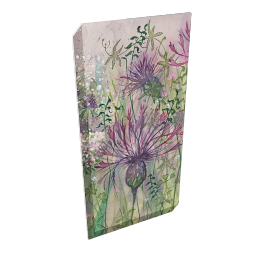 Catherine Stephenson - Thistle and Clover 2 Print on Canvas, 80 x 40cm