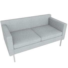Theatre Two Seater, Maharam Mode Fabric, Surf