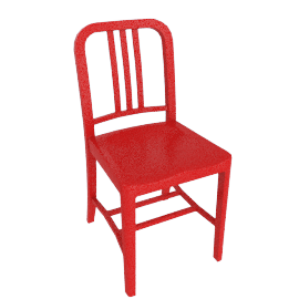 111 Navy Chair, Coca-Cola red