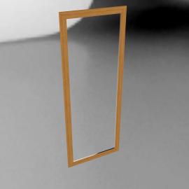 Flat Oak Wall Mirror, H137 x W53cm