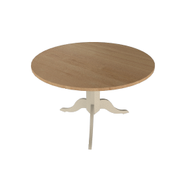 Neptune Chichester 6 Seater Round Dining TableLimestone
