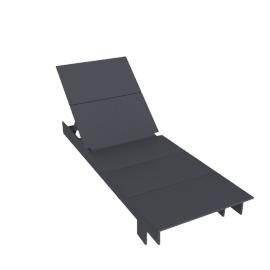 Lollygagger Chaise, Slate
