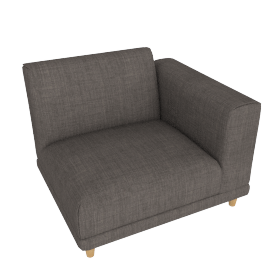 Lauren 1-Seater Sofa with Right Arm