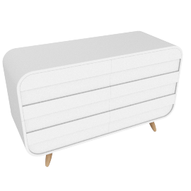 Esme wide chests of drawers, white