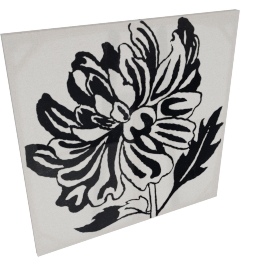 Amaryllis Linen Painting - 80x80 cms