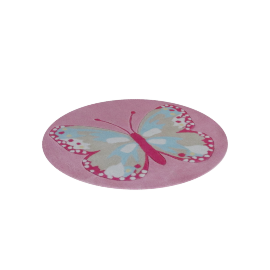 Butterfly Multicolor Rug- Pink