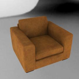 John Lewis Felix Leather Armchair