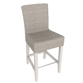 Montague Bar Chair, Pale Stone