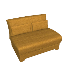 Bolero Small Double Sofa Bed, Gold