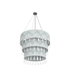 Kyla 3 Tier Pendant Shade, Duck Egg