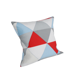 Triangled Printed Cushion Cover - 45x45 cms