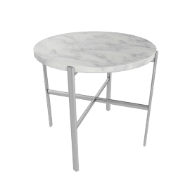 Sylvain Outline Side Table, Stainless Steel Base