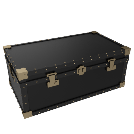 Traditional Steamer Trunk, Black