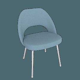Saarinen Executive Chair with Metal Legs, Crossroad fabric - Tide