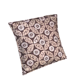 Kasbah Cushion, Black / Grey