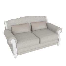 Fiesta 2 Seater Beige and Silver