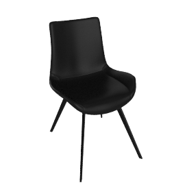 danform - HYPE CHAIR, black leather