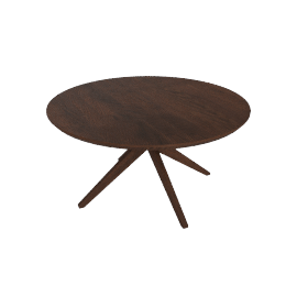 Cross Round Table, walnut