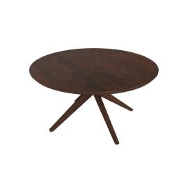 Cross Round Table, walnut