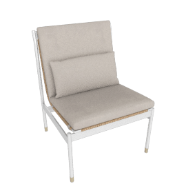 Sommer Side Chair, White / Natural