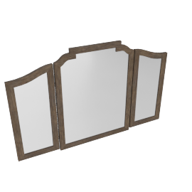 Lexington Vanity Mirror-Dark Grey/White