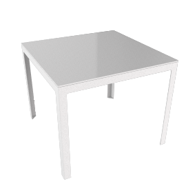 Min Table, Small with Steel Top - Steel