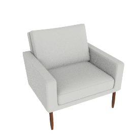 Raleigh Armchair - Powder leather