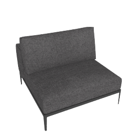 Grid Single Chaise, Pumice