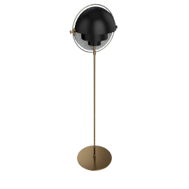 Multi-Lite Floor Lamp, Charcoal Black/Brass
