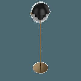 Multi-Lite Floor Lamp, Charcoal Black/Brass