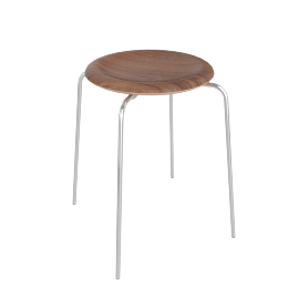 Dot Stool, Walnut Veneer
