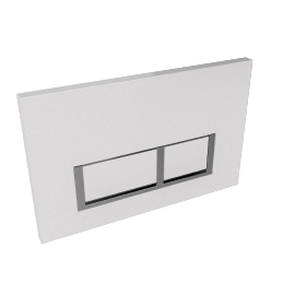 White Square Flush Plate