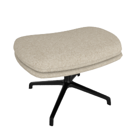 Striad Ottoman, Tonus Oatmeal with Black base