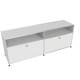USM Haller High Media Console, White