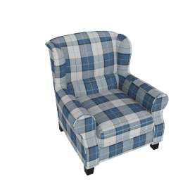 Zeba Chequered Accent Chair