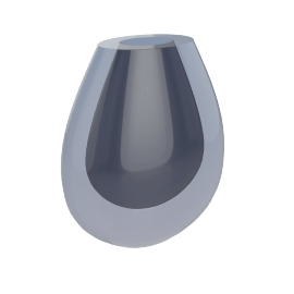 Seguso Large Vase, Lapis