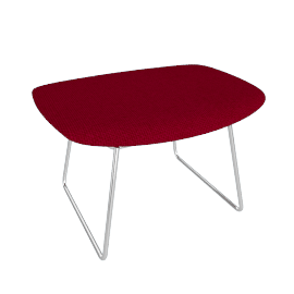 Bertoia Bird Ottoman with Full Cover – Bouclé