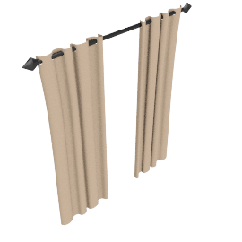 Plain Silk Pencil Pleat Curtains, Ivory, W168 x Drop 182cm